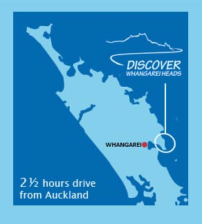 Whangarei Heads Location Map
