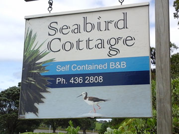 Seabird Cottage Road Sign
